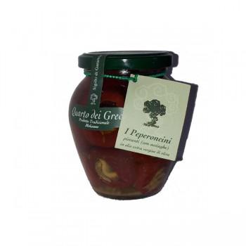 Peperoncini piccanti con acciughe 280 gr